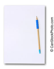 Blank paper with pencil