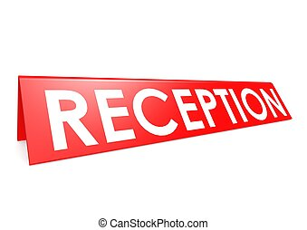 Reception tag - Rendered artwork with white background