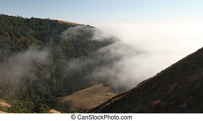 Big Sur Fog Time Lapse - Time lapse of fog rolling in over...