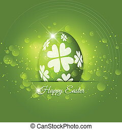 Easter Egg background - Decorative background with an Easter...