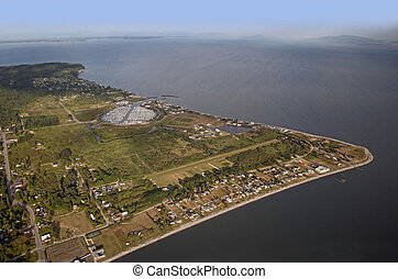 Point Roberts - peninsula and the Strait of Georgia