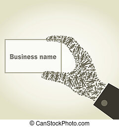 Hand the person - The hand from the person holds business a...