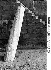 Caesarea - Architectural elements at an ancient Roman city...