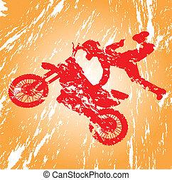 Motocross. - Motocross in grunge effect.