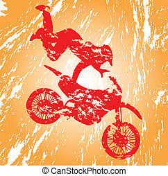 Motocross - Motocross in grunge effect