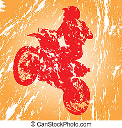 Motocross - Motocross in grunge effect