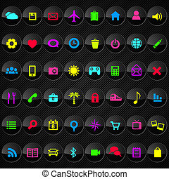 Web button Set - Set of bright web button. Vector...