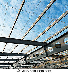 Modern Architecture Interior - The ceiling of the airport,...