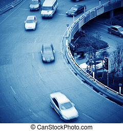Viaduct and car - Intercontinental transportation system...