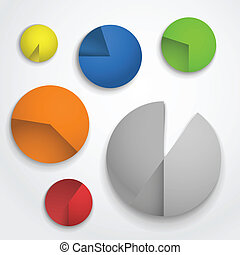 Color pie-chart diagram collection