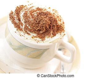 Cappucino - Cup of cappuccino coffee isolated on white