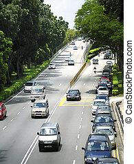 traffic - expressway traffic in urban singapore
