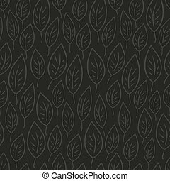 Dark leaves abstract seamless pattern. Vector, EPS8