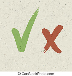 Check marks on paper texture Vector, EPS10