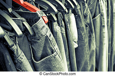 Jeans Background. - Jeans Tinted Background.