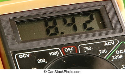 Electronics, Digital Multimeter, close up