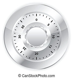 combination lock 3 - Combination lock on white background...