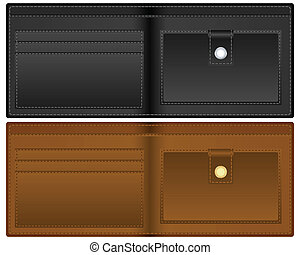 open wallet - Wallet on a white background. Vector...