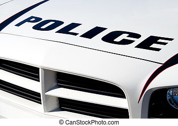 Police Car - The front end of a police car.