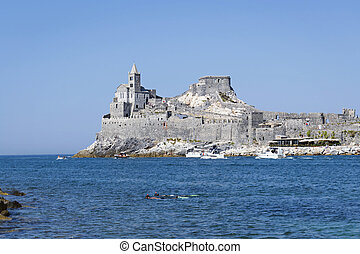 Church and sea of Portovenere - Church of St Peter, Gulf of...