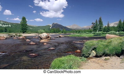 Tuolumne Meadows in Yosemite - A river in Tuolumne Meadows...