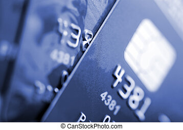 credit cards - Credit cards background Small deep of focus...