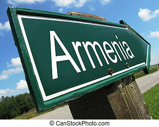 Armenia road sign