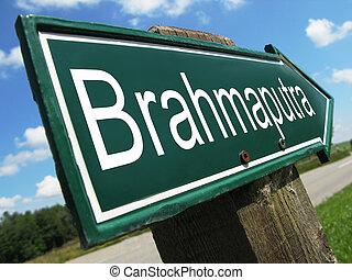 Brahmaputra road sign