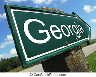 Georgia road sign