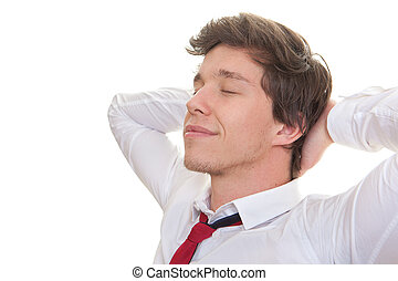 young business man relaxing