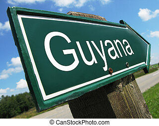 Guyana road sign
