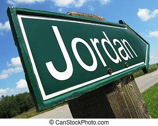 Jordan road sign