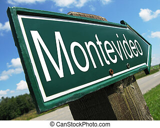 MONTEVIDEO road sign