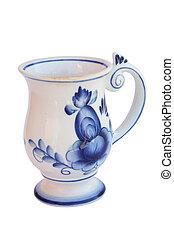 mug gzhel - The mug, mural to gzhel style Russia