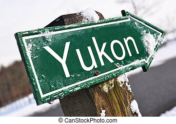 YUKON road sign