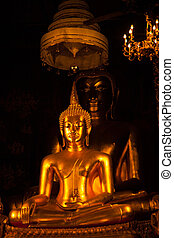 A large Buddha. Enshrined within the LDS. Thailand's...