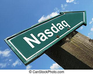 NASDAQ road sign