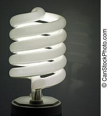 Energy saving bulb - Turned on energy saving bulb