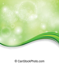 Vector Nature Background - Vector Illustration of an...