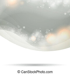 Abstract Silver Vector Background - Vector Illustration of...