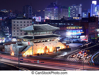 Seoul Gate - Seoul, South Korea at Namdaemun Gate.
