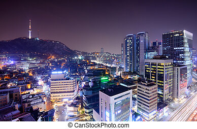 Seoul Cityscape - Cityscape of Seoul, South Korea from...