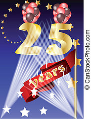 25 years celebrationfestive background in 10 EPS