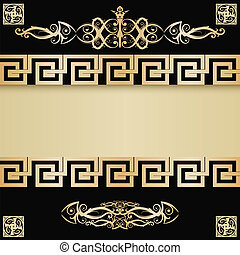 Vintage background with  Greece ancient elements