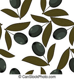Seamless texture of black olives