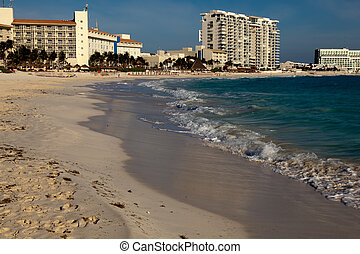 Cancun beach in Mexico - Cancun is a city in southeastern...