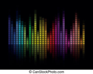 Vector Music Equalizer - Vector Illustration of a Colorful...