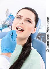 dentista, dall'aspetto, difetti, orale, cavità,...