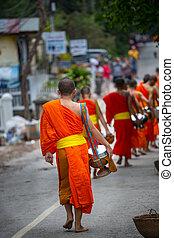 monjes, laos