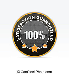 100% Satisfaction guaranteed business icon.